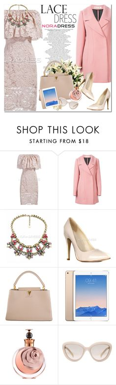 """Lace Dress"" by oshint ❤ liked on Polyvore featuring moda, Marni, Louis Vuitton, Valentino, Prada, Ted Baker, lacedress y noradress"
