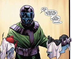 Over in Uncanny Avengers by Rick Remender, the time traveling Kang the Conquerer is in the midst of an elaborate era-spanning plot to rid the world of mutants by manipulating the heirs of Apocalypse. Uncanny Avengers, Young Avengers, Evil Villains, Marvel Villains, Marvel Fan Art, Marvel Comics Art, Kang El Conquistador, Kang The Conqueror, Red Ghost