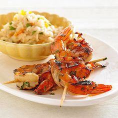 Grilled Sweet-and-Hot Alaskan Shrimp