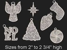 Image result for thread crochet victorian ornaments lace angel dove christmas mouse