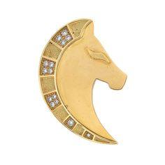 Bulgari - Gold and Diamond Horse Clip