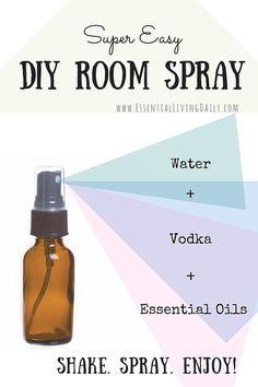 DIY room spray with essential oils #essentialoils #makeitmonday http://www.mydoterra.com/grantshort/#/essentialOils101
