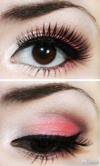 peach pink make up