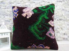 natural rug pillow 16x16 handmade rug pillow sofa pillow handmade pillow tribal pillow 16x16 rug pillow organic rug pillow throw pillow