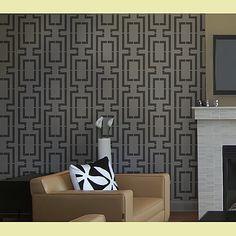 Wall Stencil Connection - Reusable stencils better than wallpaper - DIY wall decor. $39.95, via Etsy.
