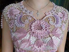 Filet Crochet, Form Crochet, Irish Crochet, Crochet Motif, Crochet Lace, Crochet Flower Tutorial, Crochet Flowers, Japanese Crochet, Irish Lace