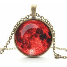 glass cabochon necklace pendant necklace art picture antique Bronze chain necklace women jewelry   2014