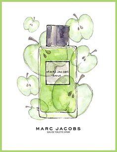 Emily Norton Illustration - Marc Jacobs Perfume Ad Apple