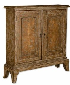 Named after one of Tuscany's most beautiful cities, our Siena Cabinet - with its intricate, hand-painted embellishments and wonderfully distressed finish - has the aged charac