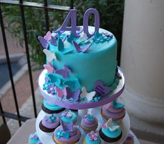 Butterfly cakes and cupcakes