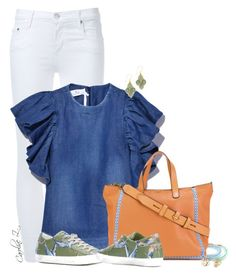 Casual : White Denim by carolinez1 on Polyvore featuring Nobody Denim, Philippe Model, Tory Burch and Miguel Ases