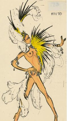 DISCO Tall Nude Showgirl Costume Showgirl Costume, Vegas Showgirl, Cabaret, Moulin Rouge Costumes, Vegas Tattoo, Burlesque Show, Mardi Gras Costumes, Frog And Toad, Fashion Sketches