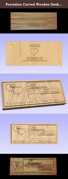 Precision Carved Wooden Desk / Table Plaque for all Occasions. Custom Carved Wood Plaque made to set on a desk or table or desk. It is twice as wide our other listing Custom Carved Wood Wall Plaque that is made to be hung on the wall. This plaque allows that special message to be carved on the back of the plaque. Many sizes available, ask for a specific size if not listed. Makes a unique gift for a wedding, anniversary, Christmas or any special occasion. If you have a specific design for…