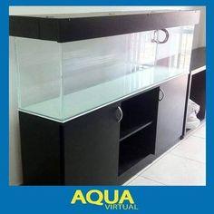 mueble acuario 150x50x30 mainar con tapa en madera y leds Discus Tank, Discus Aquarium, Glass Aquarium, Diy Aquarium, Saltwater Aquarium, Aquarium Ideas, Fish Tank Stand, Oscar Fish, Aqua Decor