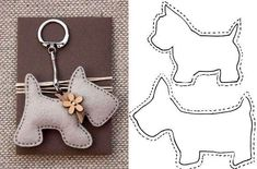 lovely felt dog patterns, for key ring or i can image the poodle hanging from a Paris bag as a charm, so cute 20 moldes que vc precisa ter Free sewing pattern for doggie keychains Fifi the French Poodle - made of felt and pom poms Hay q probaaaar! Hobbies And Crafts, Diy And Crafts, Arts And Crafts, Felt Crafts Patterns, Fabric Crafts, Sewing Toys, Sewing Crafts, Felt Christmas, Christmas Crafts