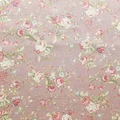 Stoff aus Baumwoll-Popeline, bedruckt, florales Blumenmuster mit Rosen, Vintage-Stil, Altrosa Grün Creme, Meterware, http://www.amazon.de/dp/B01DL434LI/ref=cm_sw_r_pi_awdl_xs_R94JybKFC7PB7