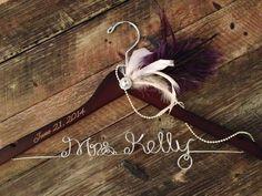 Great Gatsby Wedding Hanger 1920's Bridal Hanger by GetHungUp, $45.00