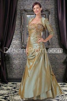 Floor Length Strapless Taffeta Mother Of The Bride Dresses Under 200