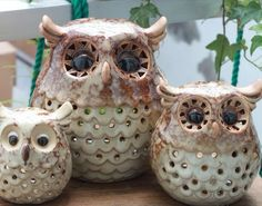Owl Trio Candle Holders