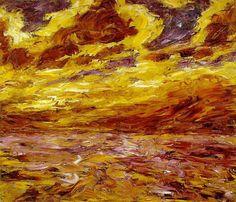 """""""otoño mar"""" de Emile Nolde (1867-1956, Germany)"""