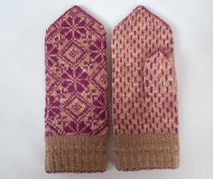 Handmade Latvian traditional double mittens