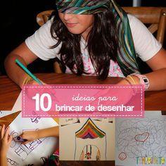 Bastam um lápis, um bloquinho e essas 10 maneiras de brincar de desenhar para você conseguir passar tempo de qualidade com seus filhos em qualquer lugar.