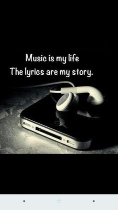 Music is my life, the lyrics are my story. I couldn't live without listening to my music because music is the way i express myself through my own songs. I make sure to listen to music every day. Emo Quotes, Lyric Quotes, True Quotes, Heart Quotes, Band Quotes, Qoutes, Quotes On Music, Emo Sayings, Music Sayings