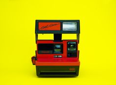 Super cool Polaroid 600 CoolCam from the 80's Limited edition red variety, perfect for Valentine's!