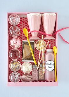 Ice Cream Decorating Hamper with Sauce and Toppings