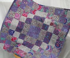 Handmade gifts Baby blanket in purple and Grey patchwork, cot quilt, baby blanket, crib quilt, nursery blanket, heirloom quilt *** Continue to the product at the image link.