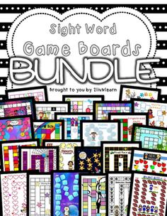 Sight Word Board Games Bundle Learn sight words fast and have fun too with these Sight Word Board Games. This set includes 25 Game Boards and 332 Sight Word Cards (including days of the week, months of the year, and number words 1-15). Also included is a bonus Rules poster!
