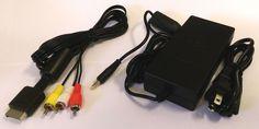 AC Power Cord & AV Cable for PlayStation 2 (Slim Model) #OldSkool