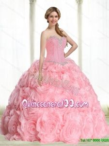 8d7e2d53091 New Arrival Beading Baby Pink Quince Dresses