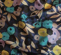 Vintage Silk Pongee from the 1980's, Usa. At Charlotte Bialas , 5 Rue Debelleyme 75003 Paris. www.charlottebialas.com/eshop