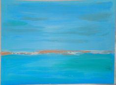 Abstract painting acrylic big blue sea by FELICISSIMO on Etsy, $39.00