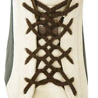 Woven Lacing demonstrates complex ways that laces can be interwoven