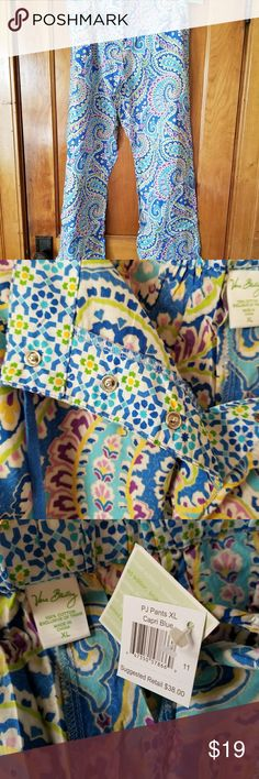 NWT- Vera Bradley lounge pants These Vera Bradley multi colored lounging pants are 100% cotton.   From the inseam they measure 30 1/2 in length. Vera Bradley Intimates & Sleepwear Pajamas