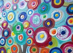 Childrens Canvas Wall Art Abstract Acrylic door HeatherMontgomeryArt