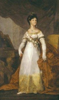 GOYA Y LUCIENTES, Francisco de (1746-1828). Portrait of Maria Luisa de Parma. 180s0s-1810s. Oil on canvas. SPAIN. BASQUE COUNTRY. VIZCAYA. Bilbao. Bilbao Fine Arts Museum.  - stock photo
