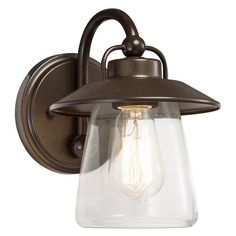 Westwood Collection 37369 Accord 7-in W 1-Light Mission Bronze Arm Hardwired Wall Sconce | Lowe's Canada