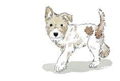 Original-Zeichnung  Hund Karte und Umschlag von Beccaillustrates