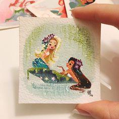The latest gossip - Liana Hee Fantasy Mermaids, Unicorns And Mermaids, Mermaids And Mermen, Mermaid Artwork, Mermaid Drawings, Mermaid Paintings, Amazing Drawings, Amazing Art, Art Drawings