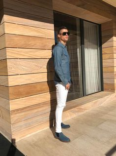 Cristiano Ronaldo poses at Home in Madrid #cristianoronaldo #cristiano #dsquared2 #cr7 #chelseaboots