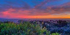 Alex Baltov Photography at Mt. Soledad Park   -  · San Diego, CA   -    Panoramic south view from the top of Mt. Soledad during a recent sunset - on clear days, Mexico can be seen in the distance from here.