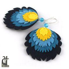 folk,z filcu,kolorowe,ludowe,folkowe,filc - Kolczyki - Biżuteria w AleŁadne