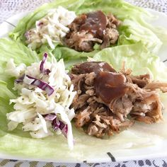 BBQ pulled pork & cole slaw in a lettuce wrap... all #ketofriendly , of course! From Keto With Crystal on Instagram! #ketorecipes #ketogenicdiet #lowcarb #lchf #keto #ketodiet #easyketo #mealprep