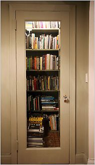 Tiny library from a closet!