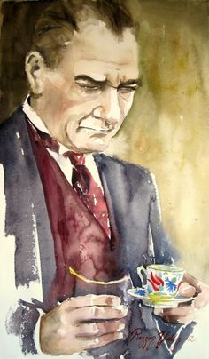 Watercolor Painting From M. Kemal Atatürk - Art Collection