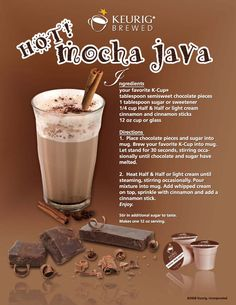 Keurig Hot Mocha Jave        Join Our Mailing List  Email Address:                            Popular Pages  Green Mountain  K-Cups   Coffee People  K-Cups   Timothy's K-Cups   Emerils K-Cups   50 Pack K-Cups