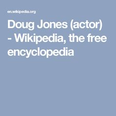 Doug Jones (actor) - Wikipedia, the free encyclopedia